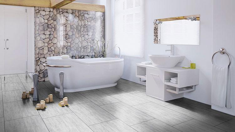 Ламинат Wineo в интерьере ванной