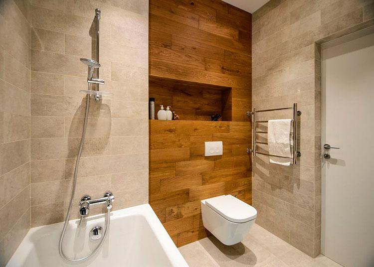 Применение водостойкого ламината в нише ванной комнаты