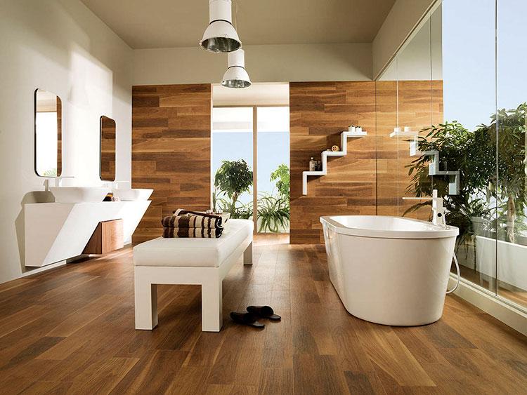 Ремонт ванной комнаты с использованием ПВХ ламината под дерево