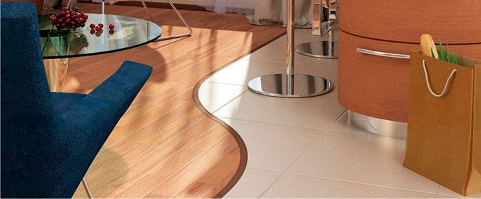 Сложные дизайнерские решения с применением гибкого винилового ламината