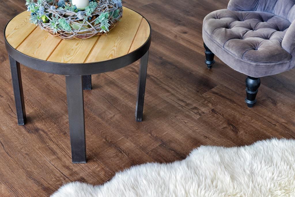 Каменно-полимерная плитка Alpine Floor - Real Wood Дуб Мокка