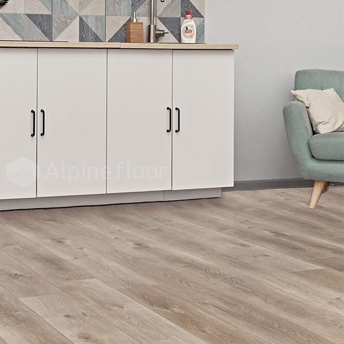 Каменно-полимерный ламинат Alpine Floor - Premium XL Дуб Натуральный Отбеленный (ECO 7-5)