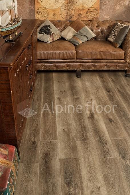 Виниловый ламинат Alpine Floor - Premium XL Дуб коричневый