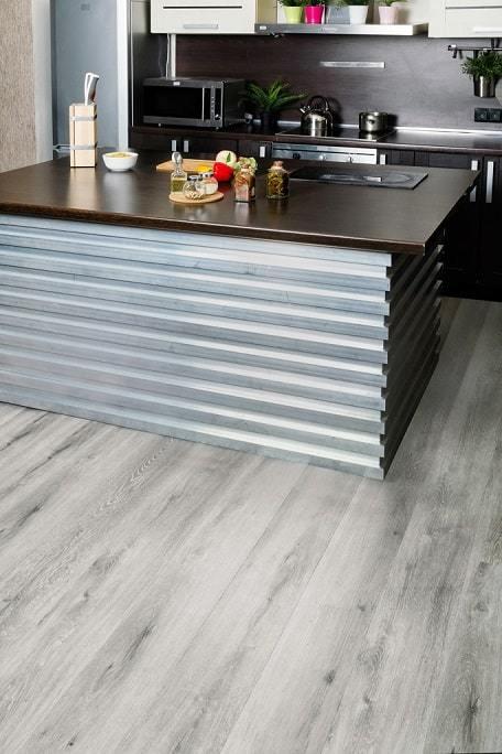 Каменно-полимерная плитка Alpine Floor - Classic Ясень серый