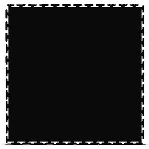 Модульное покрытие Sensor - Euro Черный   500x500x7 мм