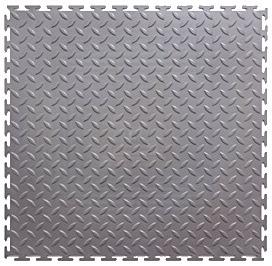 Модульное покрытие M-Tile - Hard Steel Черный | 500x500x7 мм