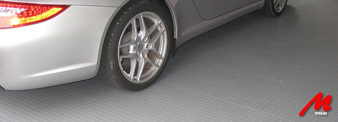 Модульное покрытие M-Tile - Hard Studded Красный | 500x500x7 мм