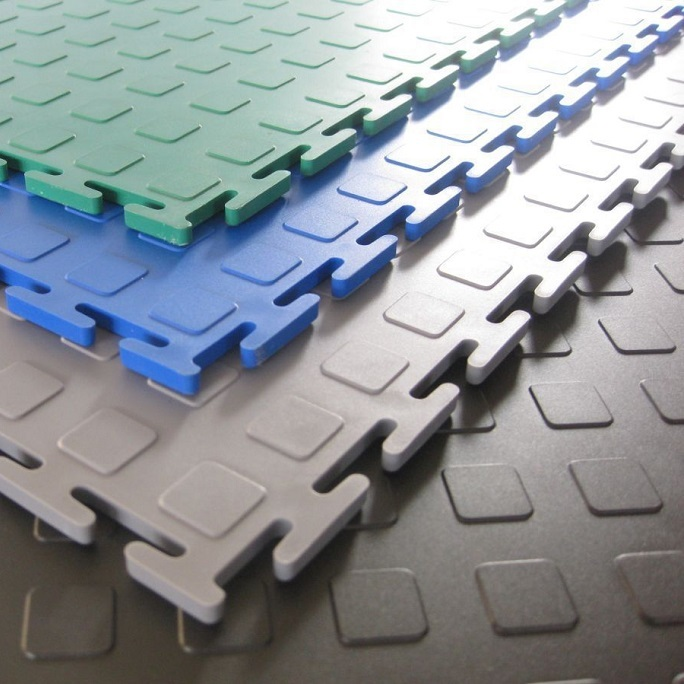 Модульное покрытие M-Tile - Jeton Голубой   500x500x7 мм