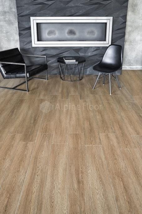 Каменно-полимерный ламинат (SPC) Alpine Floor - Intense Бурый лес