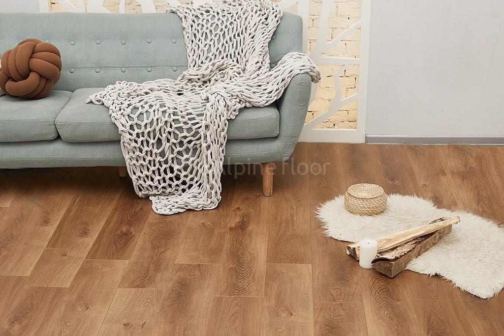 Виниловый ламинат Alpine Floor - Premium XL Дуб Насыщенный