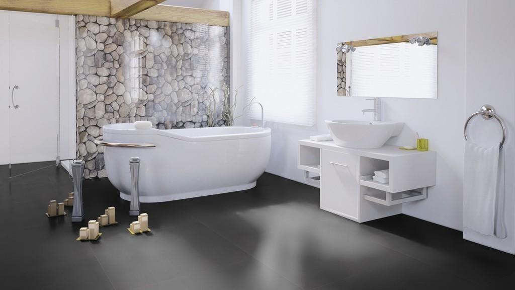 Виниловая плитка Wineo - 800 Tile Solid Dark (DB00096-2)