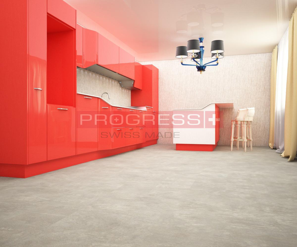 Виниловая плитка Progress - Stone (2 мм) Cement Dark Design