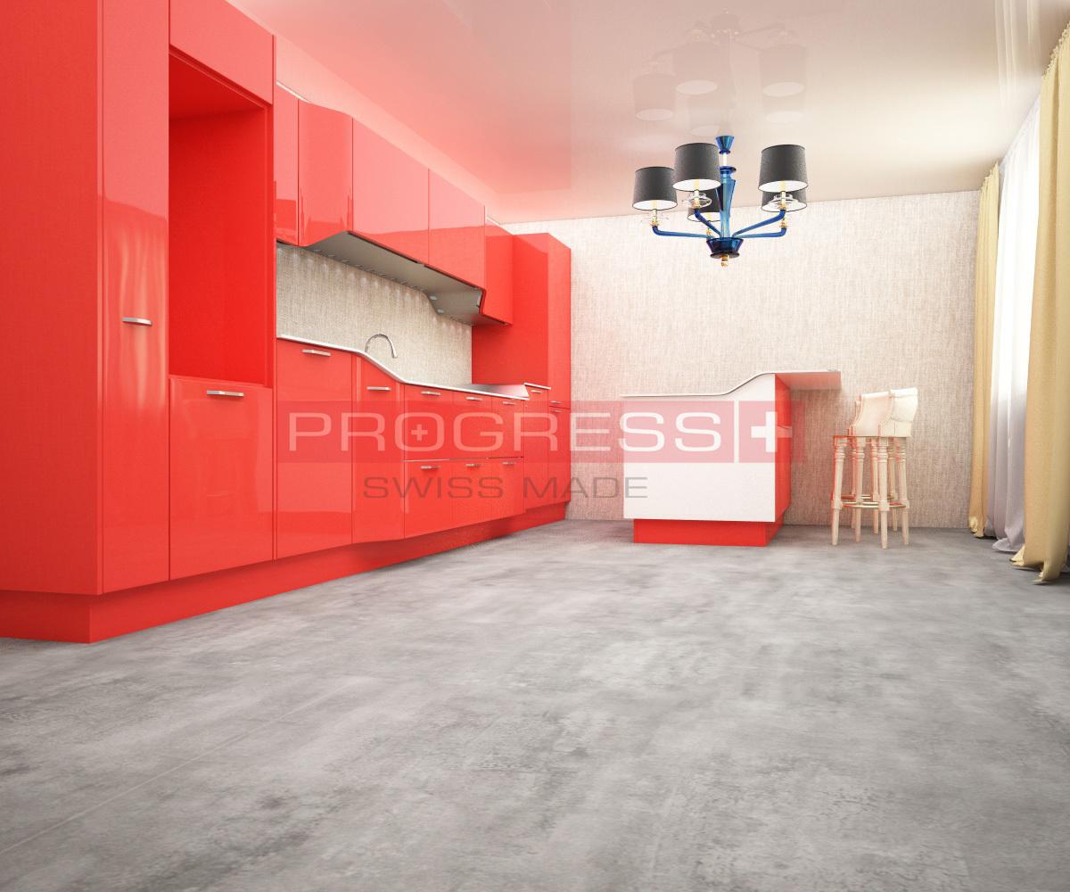 Виниловый ламинат Progress - Stone (6.5 мм) Cement Steel
