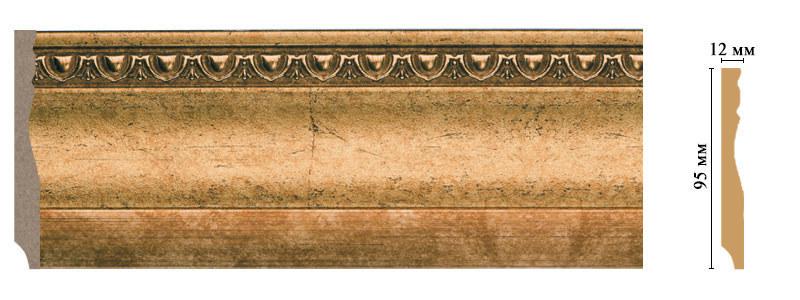 Напольный плинтус из полистирола Decomaster | (95*12*2400) (153-58 ClassicLine)