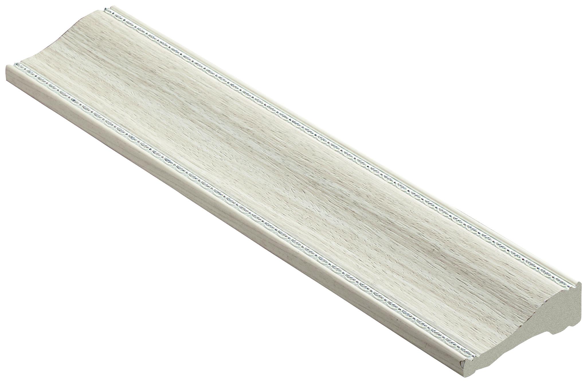 Напольный плинтус из полистирола Decomaster | (60*18*2400) (192-14 Woodline)
