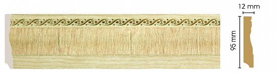 Напольный плинтус из полистирола Decomaster | (95*12*2400) (153-5 Woodline)